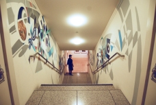SAN JOSE MUSEUM OF ART: Mural dedicated to Typographical expression.