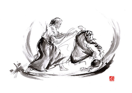 Aikido fight by Marius Szmerdt